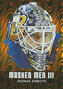 2010-11 ITG Between The Pipes Masked Men lll Gold /10 Jhonas Enroth