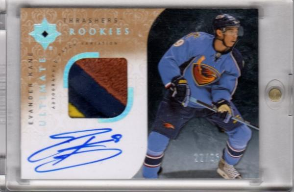 Evander Kane Ultimate rookie auto patch