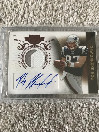 2010 Plates and Patches Rookie Patch Autograph Rob Gronkowski