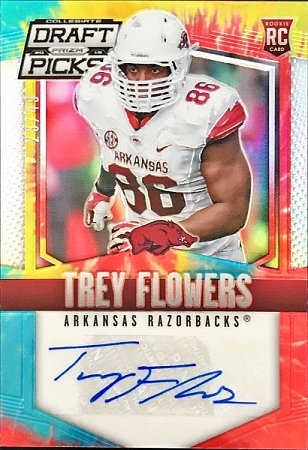2015 Prizm Draft Picks Autographs Prizm Tie Dyed Trey Flowers