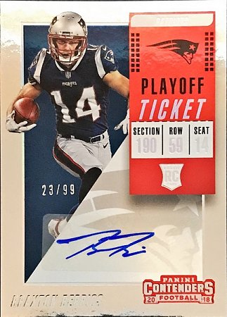 2018 Contenders Playoff Ticket Braxton Berrios