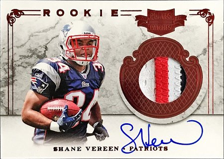 2011 Plates and Patches Shane Vereen Jersey Autograph