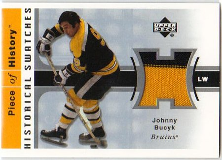 2002 03 UD PoH Historical Swatches   Johnny Bucyk