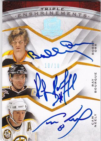2008-09 The Cup Enshrinements Triple #CE3COB Cam Neely/Bobby Orr/Ray Bourque Serial #'d 10/10