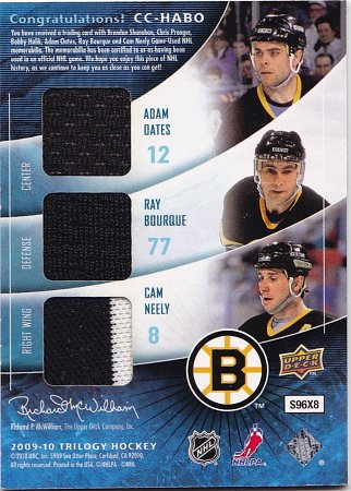 2009-10 Upper Deck Trilogy Classic Confrontations #CCHABO Cam Neely/Adam Oates/Ray Bourque/Bobby Holik/Chris Pronger/Brendan Shanahan