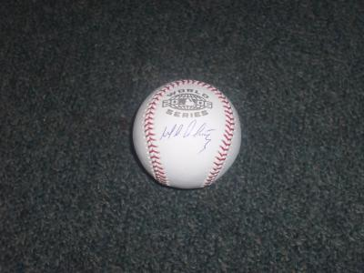 Baseball-mlb Collection Here Jimmy Rollins Philadelphia Phillies Dodgers Single Signed Game Used Baseball Jsa Excellent In Cushion Effect Autographs-original
