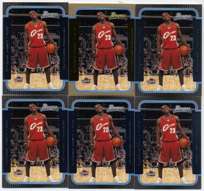 best website 8c790 d0c3c Lebron James RC LOT  160 ( 7 cards total)  2003 04 Bowman RC  123 x2.  2003 04 Upper Deck RC  301 x1 2003 04 UD City Heights RC NNO x4.