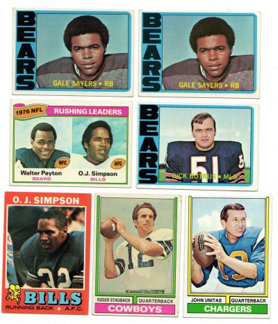 O J Simpson Amerikaans voetbal Verzamelingen Franco Harris '75 NFL Rushing Leaders rare MC Glory Days #5