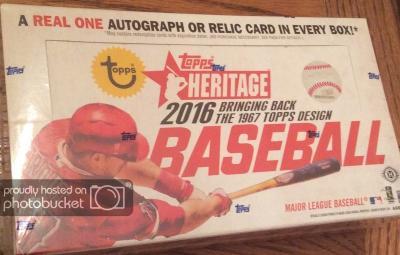 2016 Topps Heritage Baseball Hobby Box For Review