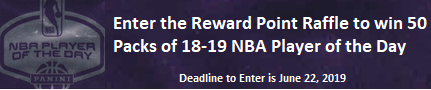 Checkout the Reward Point Raffle!
