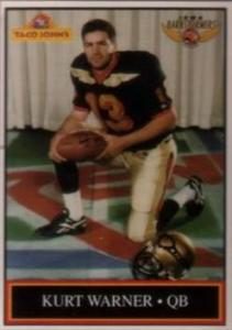 1995 Iowa Barnstormers Team Kurt Warner