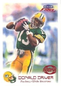 1999 Fleer Focus Donald Driver Rookie Card