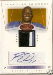 2004 Fleer Hot Prospects Roy Williams Auto Jersey