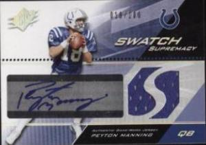 2004 Spx Swatch Supremacy Peyton Manning Auto